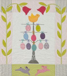 Block 5, Easter egg tree, in Chick Jubilee at Bunny Hill Designs