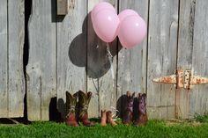 Gender reveal photo shoot! cowboy boots, photo shoot, babi boot, balloon, baby boots