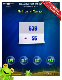 Second Grade Math Apps - Three digit subtraction - Regrouping ones as tens Worksheet