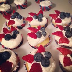 4th of July sugar-free cupcakes