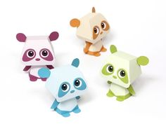Quorory Panda Paper Toy - with following eyes! Free template at link.