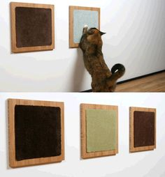 DIY wall mounted cat scratchers