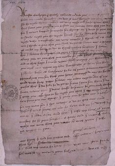 This is the only surviving letter written by Katherine Howard, Henry VIII's fifth wife.    The ill advised letter to Thomas Culpepper, a gentleman of the Privy Chamber and other reports of her infidelity led to Katherine's execution in 1542, less than six months after her marriage to Henry.    Date: 1541