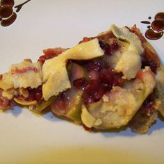 Pomegranate Apple Pie  vegan, plantbased, Earth Balance, Made Just Right
