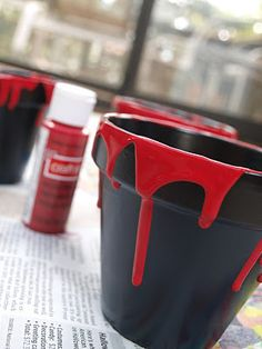 Drip pots - perfect for Halloween!