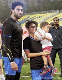 Aamir Khan's little son Azad on the football field - View pics!  #AamirKhan #AamirKhanson #Azad