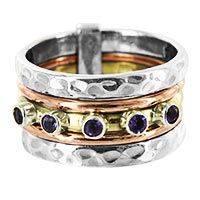 Lucky Amethyst Sterling Spinning Ring at The Animal Rescue Site