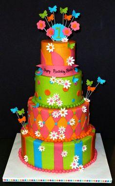 three tier birthday cake girl - Google Search