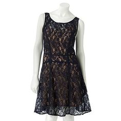 LC Lauren Conrad Lace Fit and Flare Dress Set
