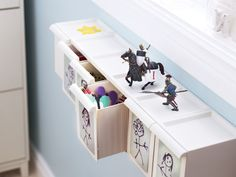 Use sorting bins as tiny toy boxes. Your little ones can bring along a few friends when you're on your way out the door.