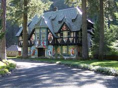 One of the buildings on Wyntoon, the property Morgan built for the Hearst family in Northern California.