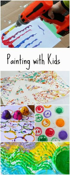 12 unique ways to paint with kids - no brushes allowed!