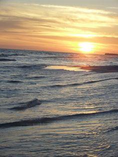 Sunset on the beach in Destin Florida. #Destin #Florida #beach #honeymoon #anniversary #bedandbreakfast #wedding #romantic #getaway #vacation