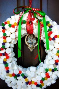 Marshmallow wreath