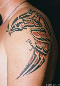 Tony S Native American Haida Style Bird Tattoo Design 450x650 Pixel..