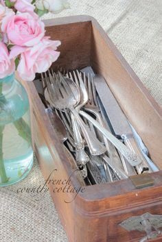 country cottages, machin drawer, vintag silver, countri cottag, vintage sewing machines