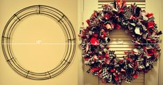 DIY wreath of fabrics and fun colors - whatever you want!