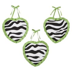 Sweet Jojo Designs Lime Zebra Wall Hangings