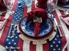 Patriotic tablescape.....