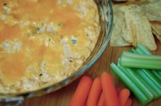 "#14 - Buffalo Chicken Dip: ""Serve with celery sticks, chips, bread, whatever! There are NEVER any leftovers!"" -esnotary"