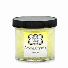 THIS OOH LA LAMP AROMA CRYSTAL HAS THE SCENT OF LEMON.