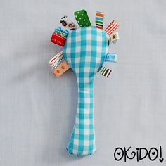 Spoon rag-tag baby toy - you could even put a rattle in this!