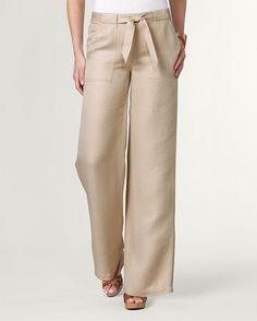 Natural easy linen pant - [K12960]