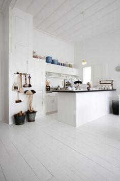 all-white kitchen.