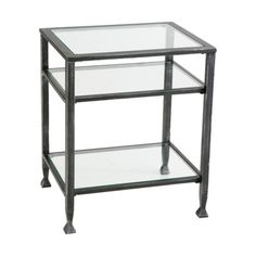 """Distressed Metal End Table - Black Table Base Dimensions: 24.0 """" H x 16.0 """" W x 20.0 """" Dia TARGET"""