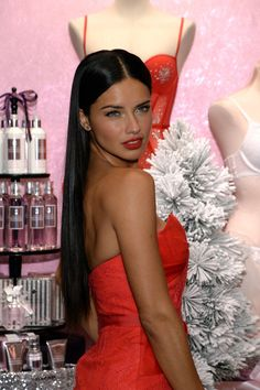 Adriana Lima attend Victoria's Secret Angels Celebrate Holiday 2013 at Victorias Secret in Herald Square on December 9, 2013 in New York City.