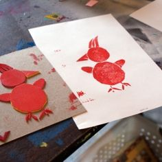 A Printmaking Lesson with Fun Foam!