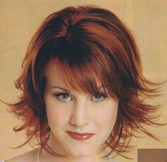 medium+length+hair+cuts | Cute Chin Length Bobbed Shag Haircut Pictures Front Side and Back ...