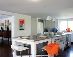 Best Remodeling decision: Stainless-steel-kitchen-island-extension-industrial-castor-wheels