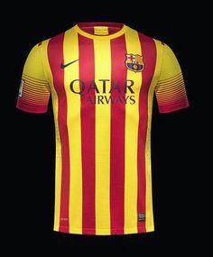 Nova segunda camiseta do Barcelona 2013/14 #futbol #soccer #nike #barcelona