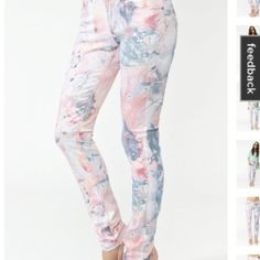 Floral skinny jeans Courtesy nastygirl.com