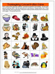 Free Printable Thanksgiving Puzzles and Games