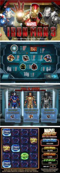 Ironman 3 slot game!  The third title in the successful Plasytech's IRONMAN slots series.  Cash prizes, the marvel jackpot and many more features awaits you here...  ENJOY!  http://www.onlineslotgames4u.com/play/ironman-3-slot-game/