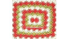 Cómo tejer bavarian crochet en forma rectangular!