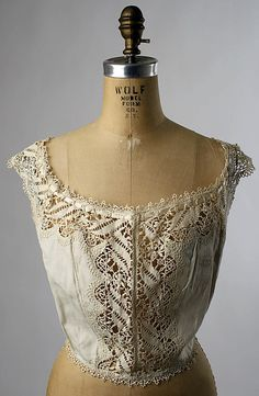 Bust Forms: 1900-1910, American or European, cotton/silk.