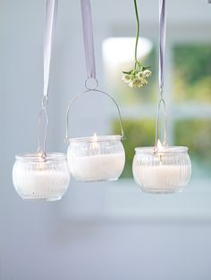 Hanging Glass Votives