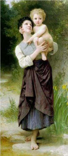 Brother and Sister - William-Adolphe Bouguereau
