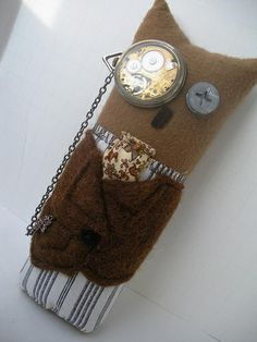Steampunk Owl - Knitting, sewing, crochet, tutorials, children crafts, papercraft, jewlery, needlework, swaps, cooking and so much more on Craftster.org owl citi, owl obsess, craft group, dignifi owl, owl plush, steampunk craft, steampunk owl, child crafts, children craft