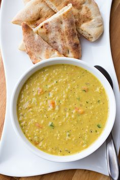 Curried red lentil and carrot soup