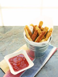 """Low Carb & Gluten Free Eggplant """"Fries"""""""