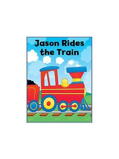 Train Personalized Coloring Book