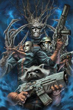 Guardians Of The Galaxy cover artwork by Alex Garner