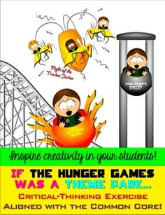 """Fun activity! Aligned with the Common Core: Hunger Games Theme Park Creative Activity """"hunger games"""" common core"""