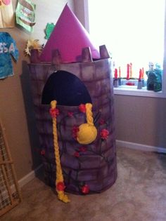 Tutorial on how to make Rapunzel's tower out of a box!!!
