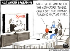 """Ads Worth Spreading"" cartoon"