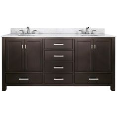 """72"""" Double Bathroom Vanity -- like functioning drawers on bottom rather than fake ones on top.  Can use a different countertop w/ vessel sinks."""